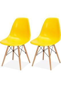 Kit 02 Cadeiras Decorativas Lyam Decor Eiffel Charles Amarelo. - Tricae