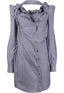 Y/Project Cut-Detail Shirt Dress - Cinza