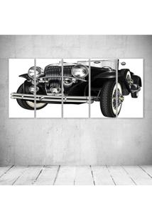 Quadro Decorativo - Black Retro Car - Composto De 5 Quadros