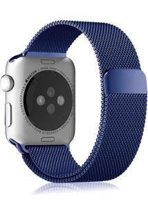 Pulseira Isd Loop Milanese Para Apple Watch 42Mm / 44Mm Azul