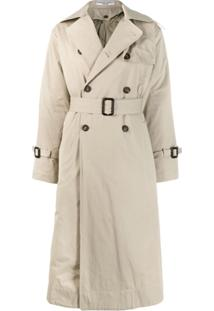 Katharine Hamnett London Trench Coat Com Abotoamento Duplo - Neutro