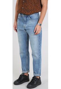Calça Jeans Masculina Dad Azul Médio