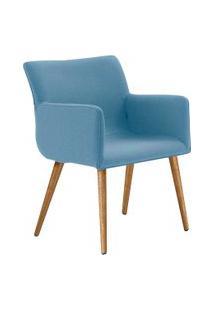 Cadeira Sala De Estar Daf Pinotage Mdf Linho