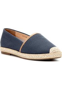 Sapatilha Shoestock Espadrille Corda Feminina - Feminino-Azul