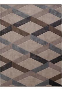 Tapete Pixel- Cinza Escuro & Bege- 200X150Cm- Tatapete São Carlos