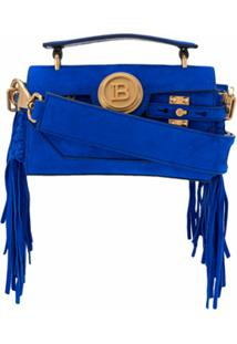 Balmain Bolsa Tote B-Buzz 19 Baguette - Azul