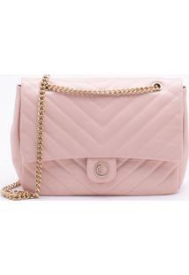 Bolsa Shoulder Bag Couro Misty Rose