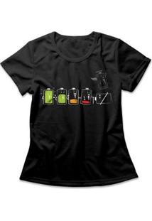 Camiseta Feminina Battery Life - Feminino