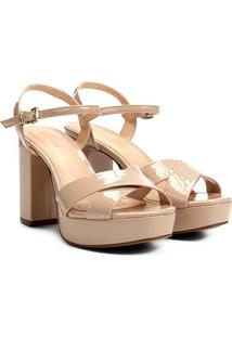 Sandália Shoestock Meia Pata Verniz - Feminino