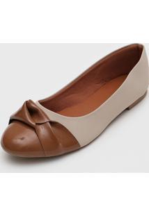 Sapatilha Dafiti Shoes Nó Off-White/Marrom