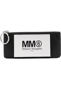 Mm6 Maison Margiela Porta-Moedas Com Logo - Preto