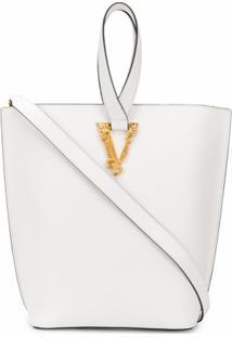 Versace Bolsa Tote Virtus - Branco