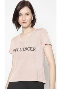 "Blusa Cropped ""Influencer""- Rosa Claro- Shirley Dantshirley Dantas"