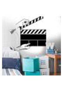 Adesivo De Parede Claquete De Filmes - M 58X50Cm