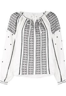 Frame Blusa Com Bordado - Branco