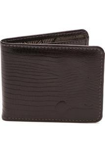 Carteira Key Design - Wallet - Croco - Masculino