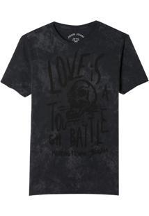 Camiseta John John Rx Tough Battle Malha Algodão Cinza Masculina (Cinza Chumbo, G)