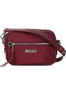 Bolsa Santa Lolla Mini Bag Nylon Feminina - Feminino-Vinho