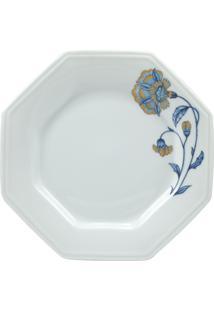 Prato Sobremesa Porcelana Real By Schmidt - Dec. Âmbar