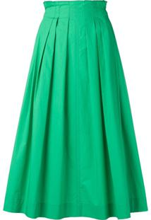 Escada Sport Pleated Midi Skirt - Verde