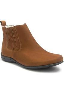 Bota Roed Shoes Botina Casual Feminina - Feminino-Marrom