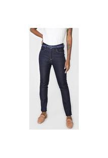 Calça Jeans Dudalina Skinny Pespontos Azul-Marinho
