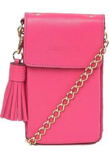 Carteira/Porta Celular Couro Griffazzi Pink