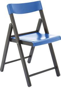 Cadeira Potenza Tabaco E Azul Tramontina