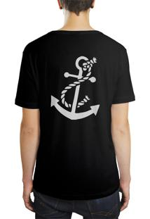 Camiseta Hunter Âncora Preta