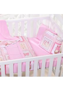 Edredom Bebê 100% Algodão Fio Penteado - Amore Rosa
