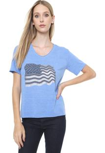 Camiseta Calvin Klein Jeans Bandeira Azul