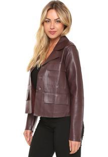 Jaqueta Ellus Double Leather Marrom