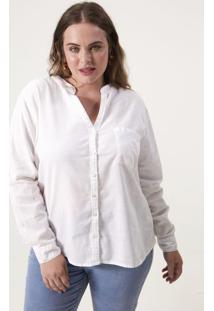 Camisa Com Bolso Curve & Plus Size