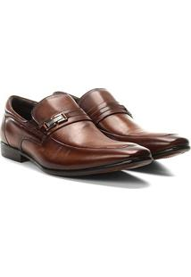 Sapato Social Couro Rafarillo Dubai - Masculino-Tabaco