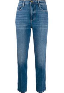 Frame Cropped Skinny Jeans - Azul
