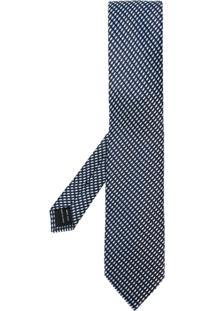 Tom Ford Gravata De Seda Com Padronagem - Azul