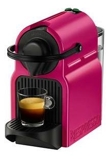 Cafeteira Nespresso Inissia Preparo De Espresso E Longo, 19 Bar De Pressão – Rosa