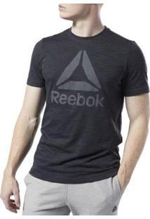 Camiseta Reebok Te Marble Bl Masculina - Masculino-Preto
