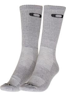 ... Meia Oakley Crew Sock Cinza 3e1bcc2c75e