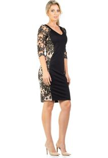 29e24f8ab R$ 595,21. Dafiti Vestido Transparente Preto Tule Com Renda Guipir Realist