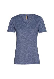 Camiseta Feminina Manga Curta Flamê Azul