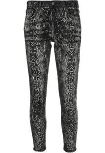 Amiri Calça Jeans Skinny Com Estampa Pele De Cobra - Preto