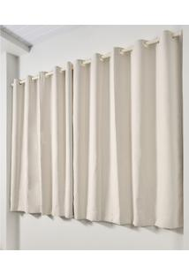 Cortina Blackout De Varão Trevalla Decor 280X180Cm Creme