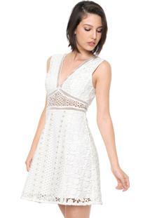 Vestido Forum Curto Renda Off-White