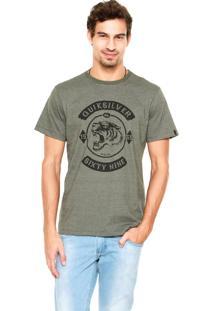 Camiseta Quiksilver Slim Fit Power Paw Verde