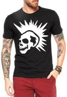 Camiseta Criativa Urbana Caveira Punk - Masculino