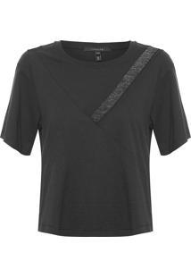 Camiseta Feminina Alice - Preto