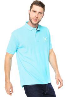 ffd6a15075d4f ... Camisa Polo Polo Play Reta Logo Azul
