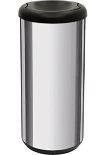 Lixeira Inox 40 Litros Cápsula Selecta Plus Basculante Preto 94539200 Tramontina