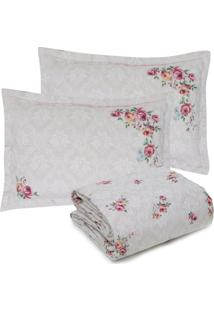 Kit Colcha Queen Kacyumara 3Pçs Francy Floral